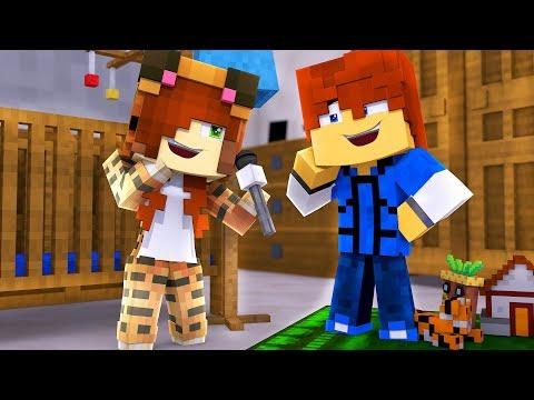 Minecraft Daycare - TINA CAN TALK !? (Minecraft Roleplay) (видео)