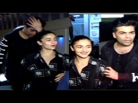 Alia Bhatt & Karan Johar Spotted At Hakkasan Resturant