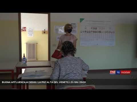 BUONA AFFLUENZA AI SEGGI: LA PIU' ALTA DEL VENETO | 21/09/2020