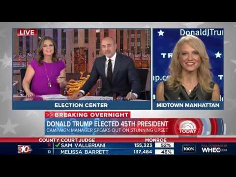 Donald Trump Elected President - Today Show  | 9 November 2016 | 7AM ET