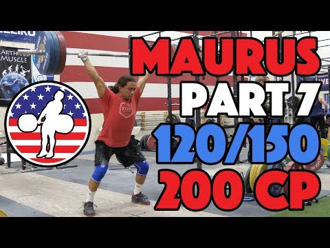 Harrison Maurus Part 7/11 Pre 2017 WWC Training 120/150 Power Jerk + 200 Clean Pulls [4k60]