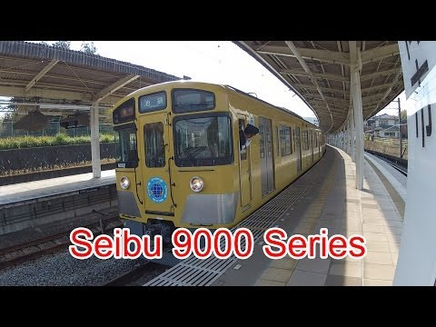 Japan Railway, Seibu Ikebukuro Line, 9000 Series, 9002, Iruma Station, 11/28/2013 (видео)