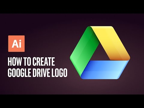 How To Create Google Drive Logo Adobe Illustrator Tutorial