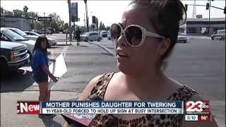 Mother Punishes Daughter for Twerking