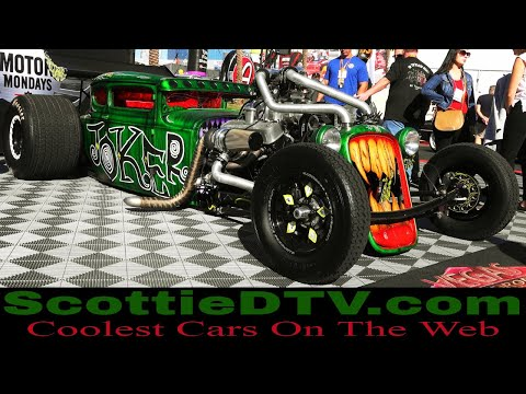 "Vegas Rat Rods ""Joker Mobile"" Twin Turbo Supercharged Big Block  Hot Rod  2018 SEMA Show"
