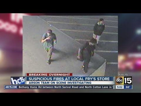 Suspicious fires at local Fry's store