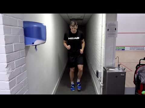 Squash tips: Warm-up stage 3: Specific High Intensity Restricted Space with Gary Nisbet