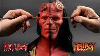 Hellboy Sculpture Timelapse - Perlman vs Harbour