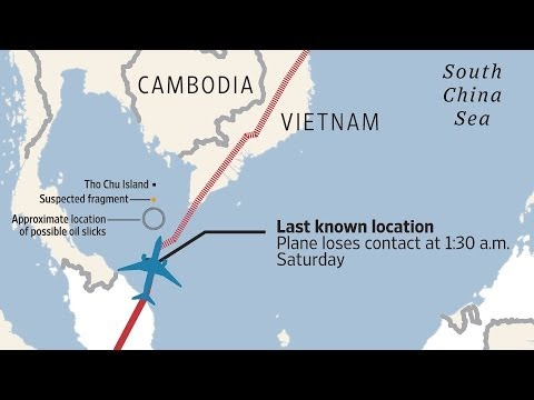latest - Malaysia Airlines Flight 370, carrying 239 passengers and crew, went missing early Saturday morning, local time. WSJ's Jason Bellini has the latest developme...