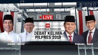 Video FULL! Debat Capres - Cawapres Kelima 2019 ; Jokowi -Ma'ruf Amin Vs Prabowo - Sandiaga Uno MP3, 3GP, MP4, WEBM, AVI, FLV April 2019