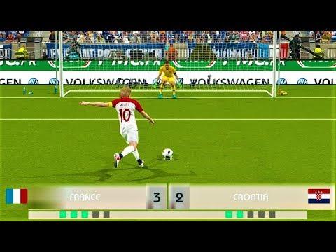 France vs Croatia | Penalty Shootout | FIFA World Cup Final | PES 2018 Gameplay HD