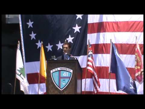 USS Midway Flag Day 2013 Keynote Address by Evan Buck