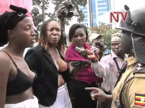 Activists undress to protest Police assault