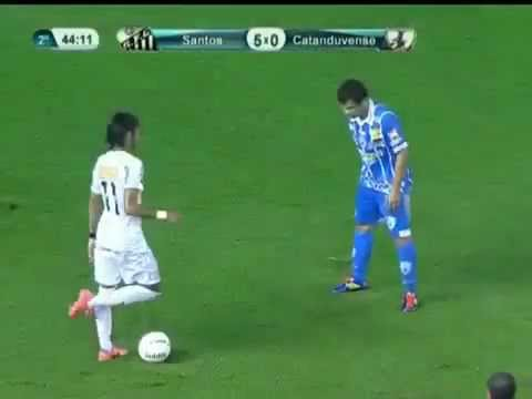 Neymar New Insane Trick Dribble Crazy Skills Drible Santos 5-0 Catanduvense 15 04 2012
