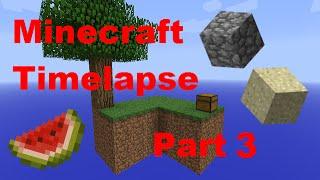 Sand Island!! - Minecraft - Timelapse - Skyblock - Part 3