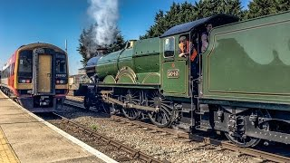 GWR Castle No 5043 On The Moonraker Vintage Tours Solihull To Salisbury Saturday 8th April 2017