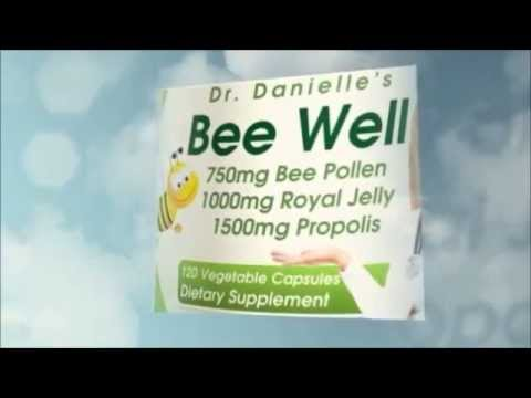 Dr. Danielle's Bee Well (Royal Jelly 1500mg, Propolis 1000mg, Beepollen 750mg)