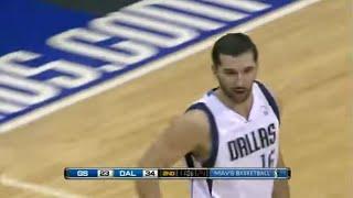 Peja Stojakovic scores 9 points in one minute Mavs vs Warriors 20 March,2011