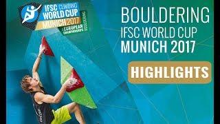 IFSC Climbing World Cup Munich 2017 - Finals Highlights by International Federation of Sport Climbing