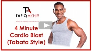 4 Minute Cardio Blast Workout (Tabata Style)