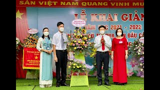 Phó Chủ tịch HĐND thành phố Đỗ Trường Sơn chúc mừng Lễ khai giảng năm học mới 2021-2022 tại Trường Tiểu học Trần Phú