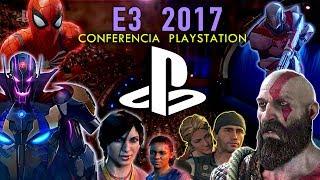 Presentación  Sony PlayStation en el E3 ↓↓Desplegar ↓↓Uncharted: The Lost Legacy.................................. 02:29Horizon Zero Dawn: The Frozen Wilds DLC.........  04:40Days Gone .............................................................. 05:47Shadow of the  Colossus ...................................... 12:40Marvel vs. Capcom Infinite .................................... 14:02Skyrim VR ............................................................... 16:25Star Child ................................................................ 17:25The Inpatient .......................................................... 19:04Monster of the Deep FF XV ................................... 19:54Bravo Team ............................................................  20:34Moss .......................................................................  21:17God of War .............................................................  23:02Detroit: Become  Human .......................................  27:59Destiny ...................................................................   33:36Spiderman .............................................................   36:43                                                                                             🌍    Redes    🌎► Facebook: https://www.facebook.com/jugamerlandia/ ► Twitter : https://twitter.com/JUGAMER1 ► Instagram: https://www.instagram.com/jugamermania/► Visita Nuestra Web:http://jugamerlandia.com/ P.D. - Solo 2 juegos: Monster Hunter World  y COD WW II no fueron incluidos por copyright.