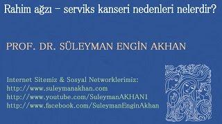 Rahim ağzı - serviks kanseri nedenleri nelerdir? - Prof. Dr. Süleyman Engin Akhan