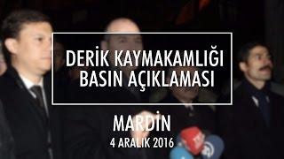 Bakanımız Sn. Soylu'nun Mardin Derik Kaymakamlığı Önü Konuşması - 4.12.2016.
