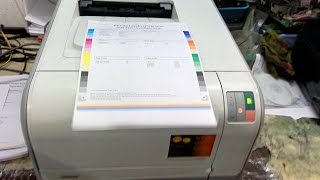 Unboxing HP Color LaserJet Printer CP1215, Printing & Review