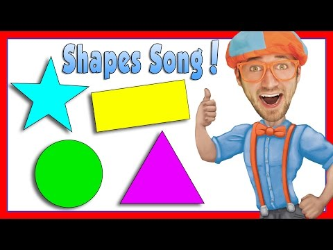 Learn Shapes for Kids with Blippi   The Shapes Song