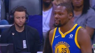Video Stephen Curry Reacts To Kevin Durant and Klay Thompson While Commentating During the Game! MP3, 3GP, MP4, WEBM, AVI, FLV Juni 2018
