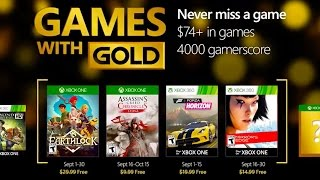 Xbox September Games with Gold by GameSpot