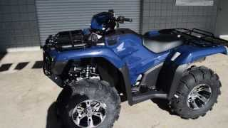 9. 2014 Foreman 500 Power Steering + ITP Wheels / Tires - TRX500FM2E Blue Honda of Chattanooga