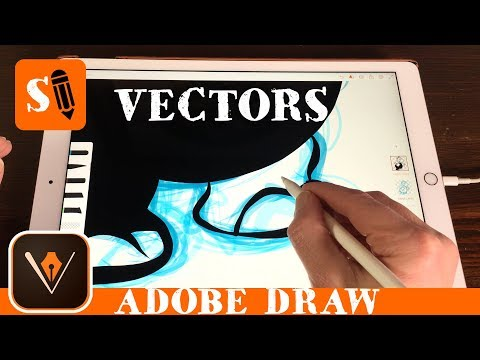 Draw In Vectors In Adobe Draw With Apple Pencil On IPad Pro