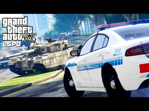 GTA 5 Police Mod | LSPDFR #132 - Joyriding In A Military Tank