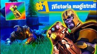MATO A THANOS Y VICTORIA! FORTNITE: Battle Royale