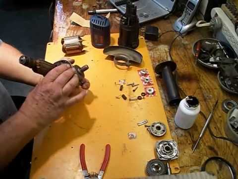 Cambio rodamientos y armado mini esmeriladora