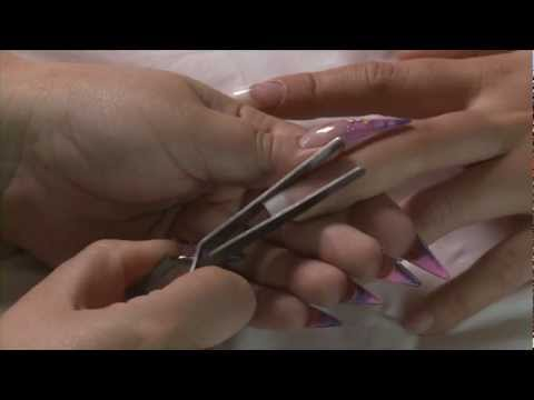 Applying Nail Tips and Natural Acrylic Overlay Tutorial
