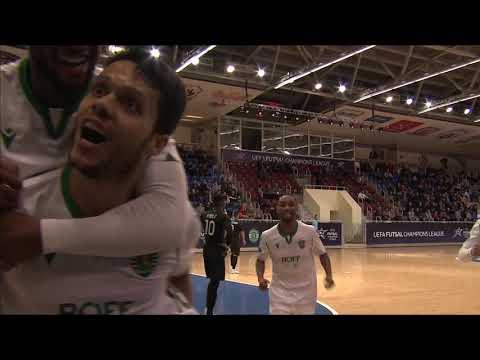 UEFA Futsal Champions League. Sporting (POR) vs Ayat (KAZ) - 5:2. Highlights