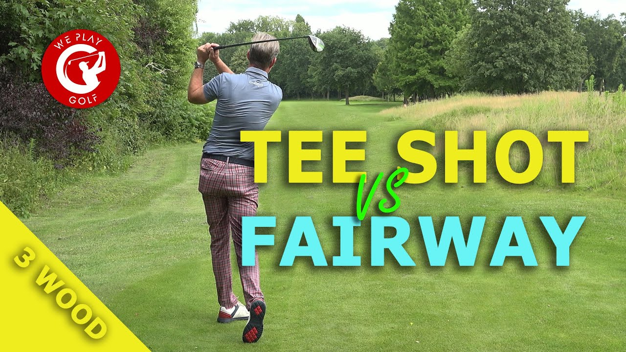 The difference between hitting a 3 wood off the tee box and off the fairway