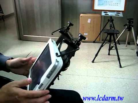 iPad 2 Laptop holder swing arm mounting device for power wheelchair accessories