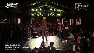 Slim Boogie – Juste Debout Milan 2020 POPPING Judge Demo