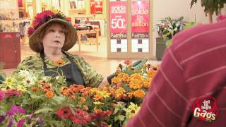 Wet Woman With Flower Hat Prank