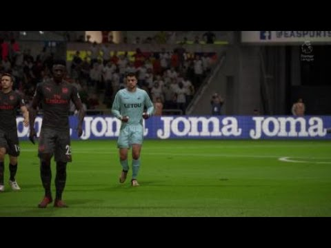 Swansea City Vs Arsenal EPL 2017/18 | FIFA Simulation