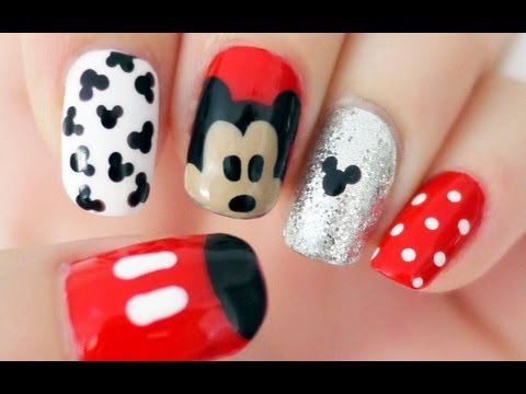 Nail - Hello :D I'm Janelle! This is a tutorial for Disney Mickey Mouse Nails! Subscribe to get beautiful nail art content (like this Mickey one) delivered directly...