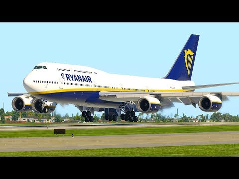 Boeing 747 RyanAir Landing Only In X-Plane 11 (HD)