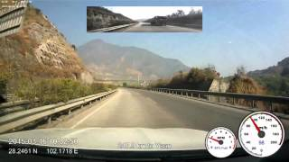 Mianyang China  city photos gallery : 2015-03-16 drive-lapse from Xichang to Mianyang, 6x speed, 1080p, 60fps