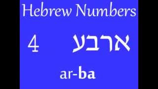 Hebrew (עברית) Counting : Numbers 1-10
