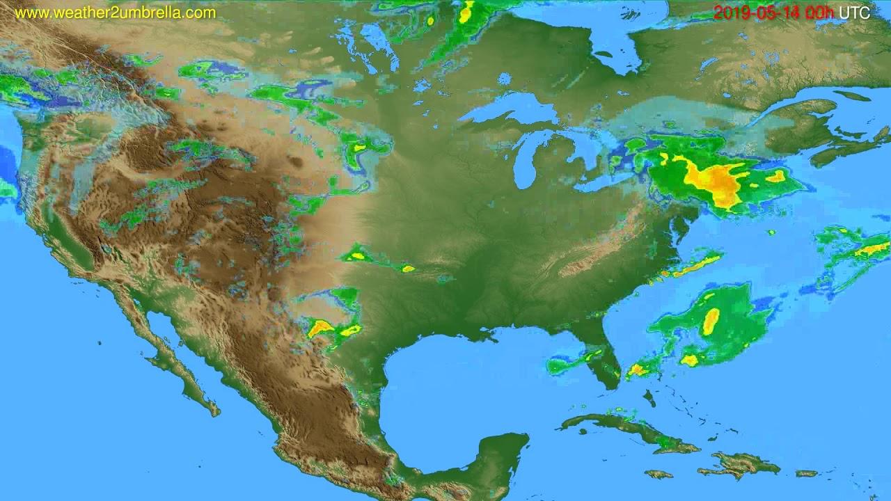 Radar forecast USA & Canada // modelrun: 12h UTC 2019-05-13