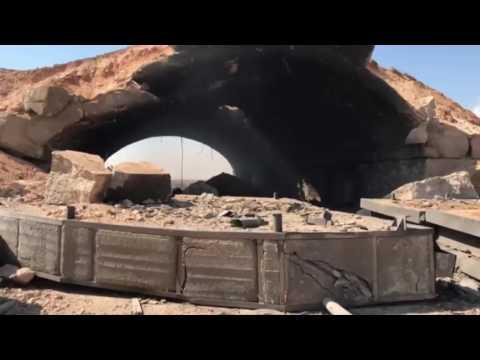 فيديو هكذا أصبح مطار الشعيرات بعد الضربة الأمريكية